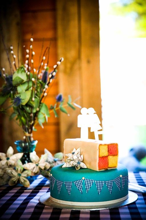 Battenburg Wedding Cake from Claire & Oli's Austrian themed wedding SMP Weddings: Sussex based female wedding photographer. Photojournalist creating highly atmospheric images which burst with personality and emotion