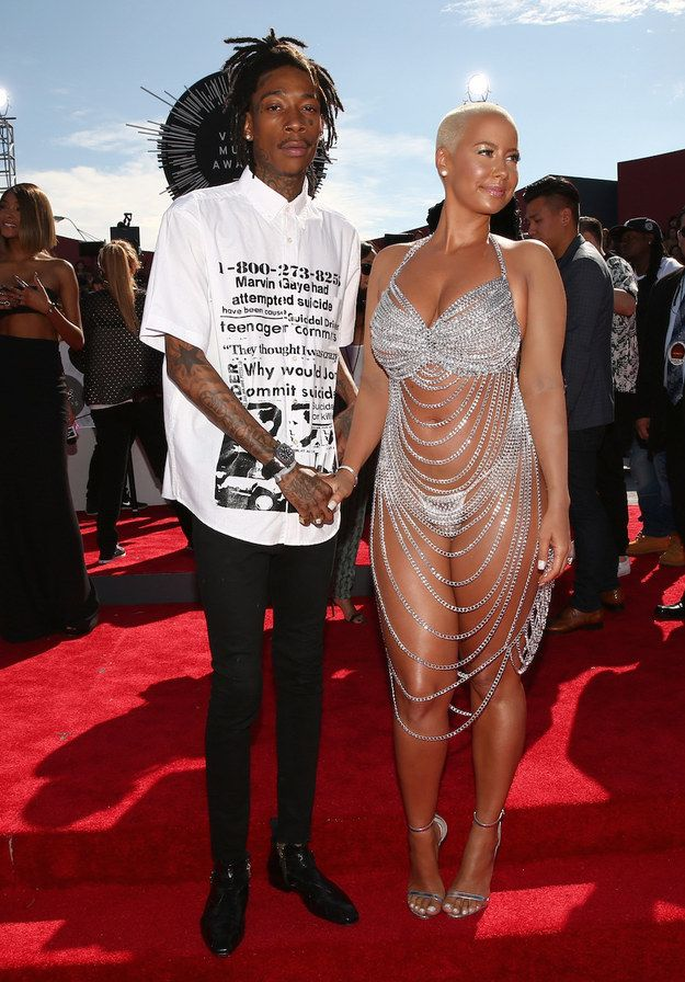 Amber Rose | WORST Not a type of dress that should be worn at the VMAs it shows a little to much skin .