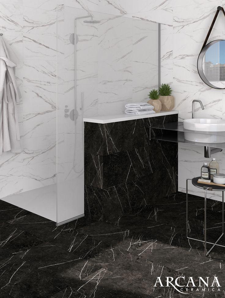 M s de 25 ideas incre bles sobre ba o de m rmol negro en for Palmetas de marmol