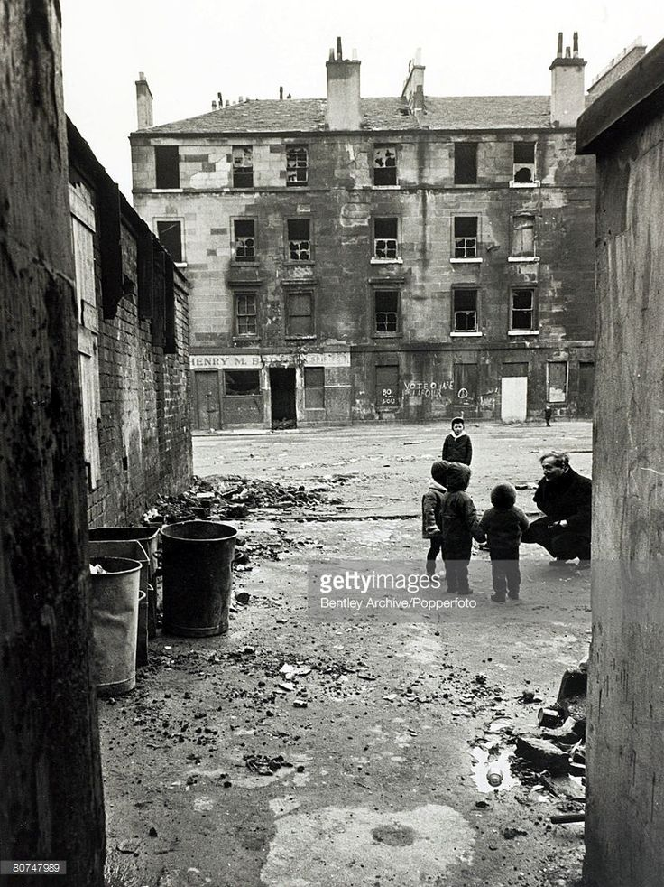 Social History Housing pic February 1966 A scene in the Gorbals area of Glasgow Scotland showing...