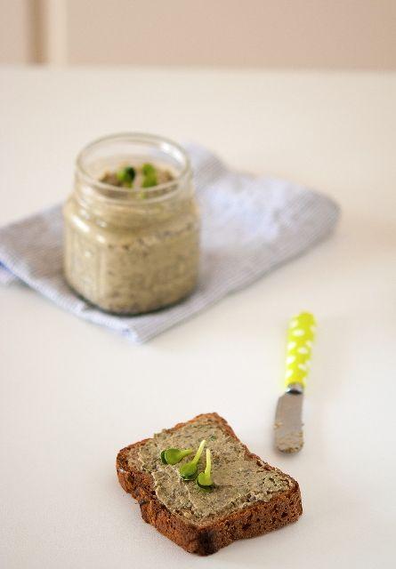 Pâté de Lentilles Vertes aux Pousses de Tournesol @ Cléa Cuisine #végétal #vegan #salé