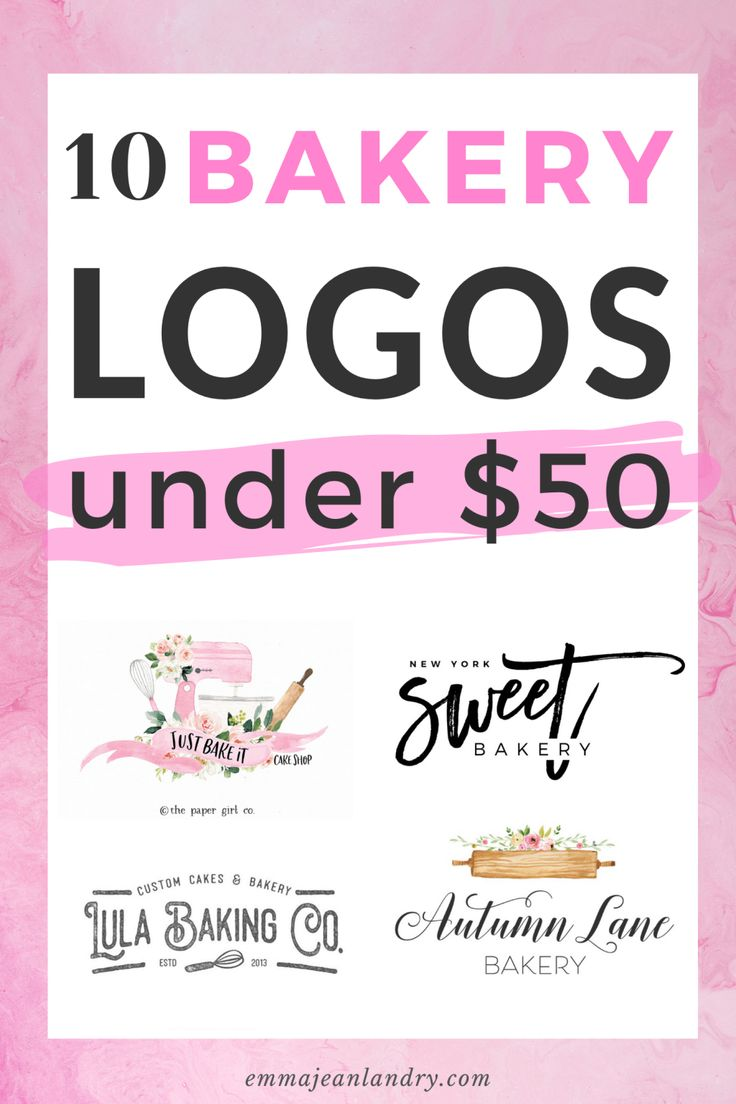 Bakery logo ideas for under 50 in 2020 with images