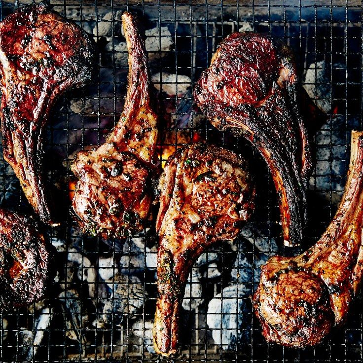 Mint and Cumin–Spiced Lamb Chops(substitute olive oil instead of vegetable oil)