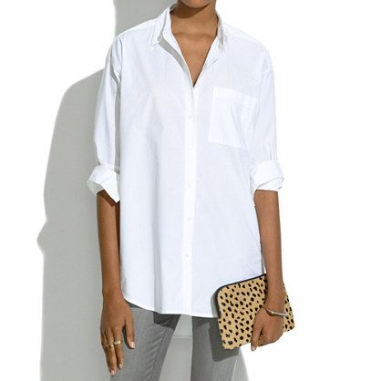 how to wear a white button down shirt casually