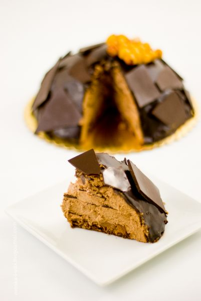 Шоколадно-ореховый муссовый торт с виски /  whiskey hazelnut mousse cake
