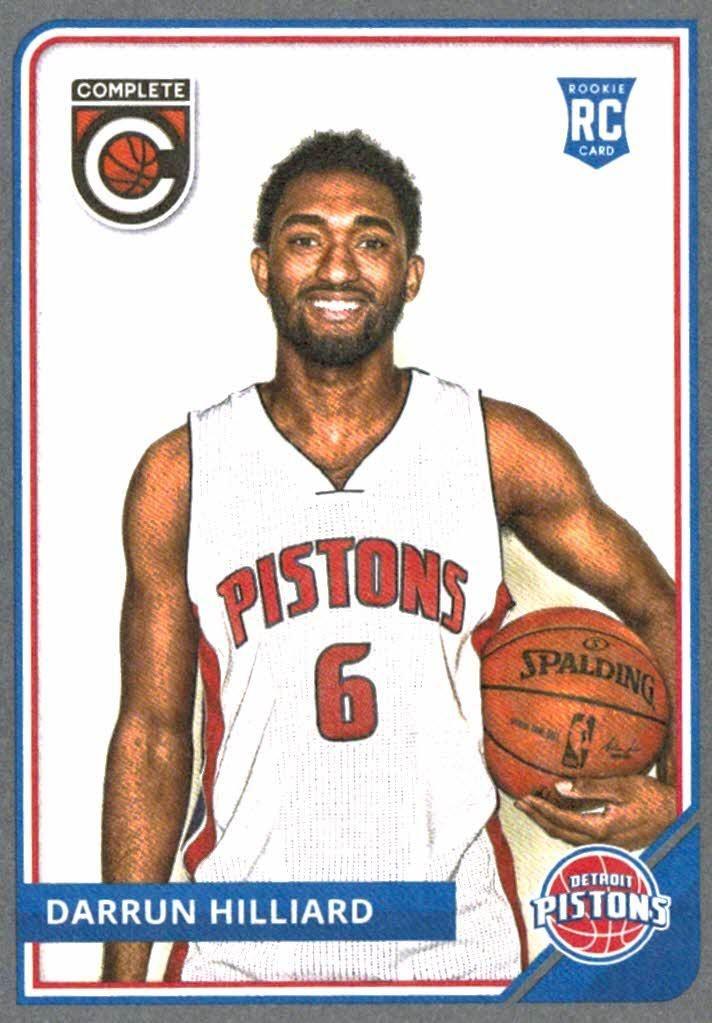 2015-16 Panini Complete Darrun Hilliard Silver Rookie Card Detroit Pistons