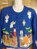 80s Nativity Scene Bad Christmas Sweater