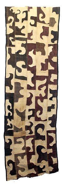 Africa | Kuba cloth.  Dr Congo: Textiles Rugs Fabr, Skirts Panels, Textiles Tribal, Appliqué Style, Textiles Art, Kuba Skirts, Fabrics, Skirts 18, Kuba Clothing