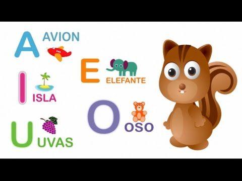 Las Vocales para Niños - Aprender las vocales - Video Infantil - YouTube