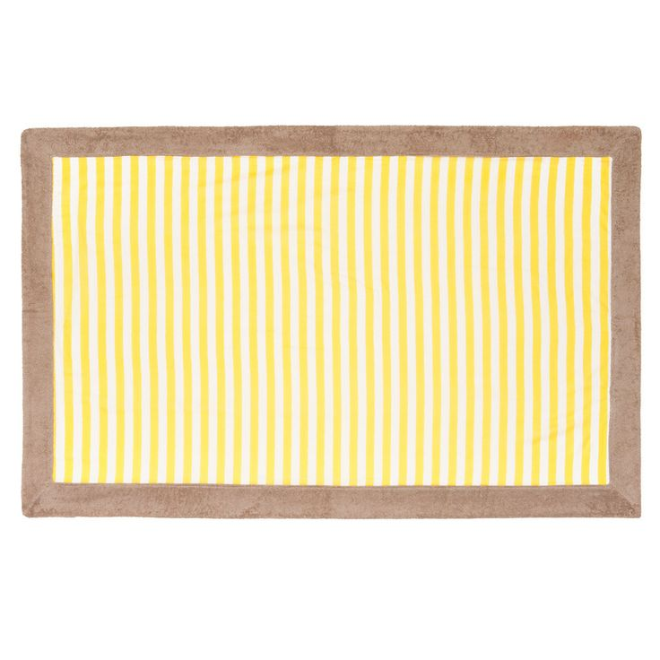 If you consider your style minimal but want to add a twist, this yellow stripped towel would be it!