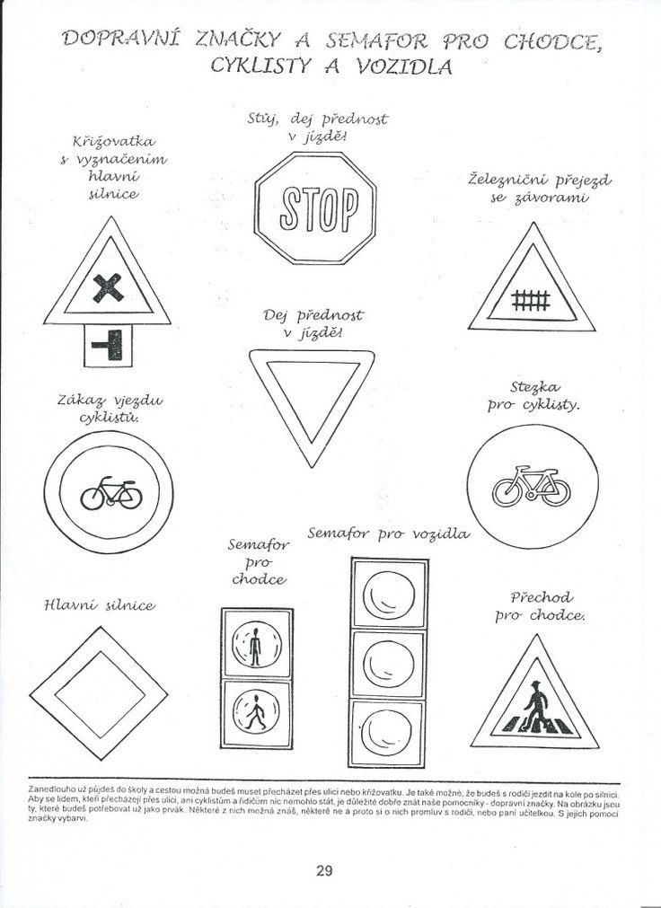 Dopravní značky a semafor