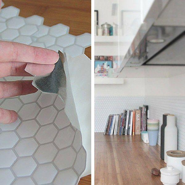 17 meilleures id es propos de carrelage adhesif sur - Plaque adhesive pour cuisine ...
