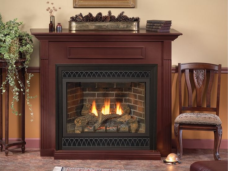 Empire Fireplace In Black Vented Gas Fireplace Gas Fireplace