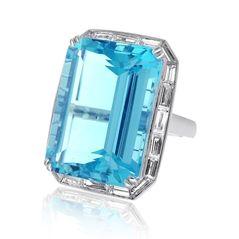 Reis-Nichols Jewelers : Estate Aquamarine & Diamond Ring