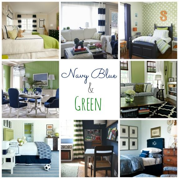 Navy And Emerald Room Decor