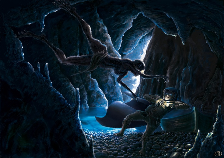 Gollum and Bilbo - The Hobbit