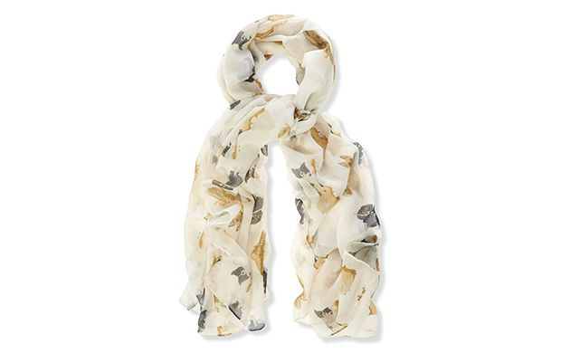 "Light Printed Scarf. ""A light scarf is a chic addition to any outfit and this floral style is the perfect example."""