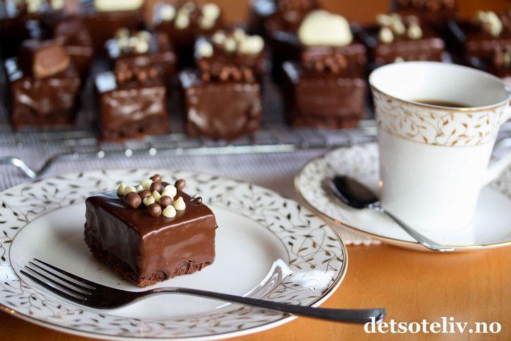 Sjokoladedyppede sjokoladebrownies | Det søte liv