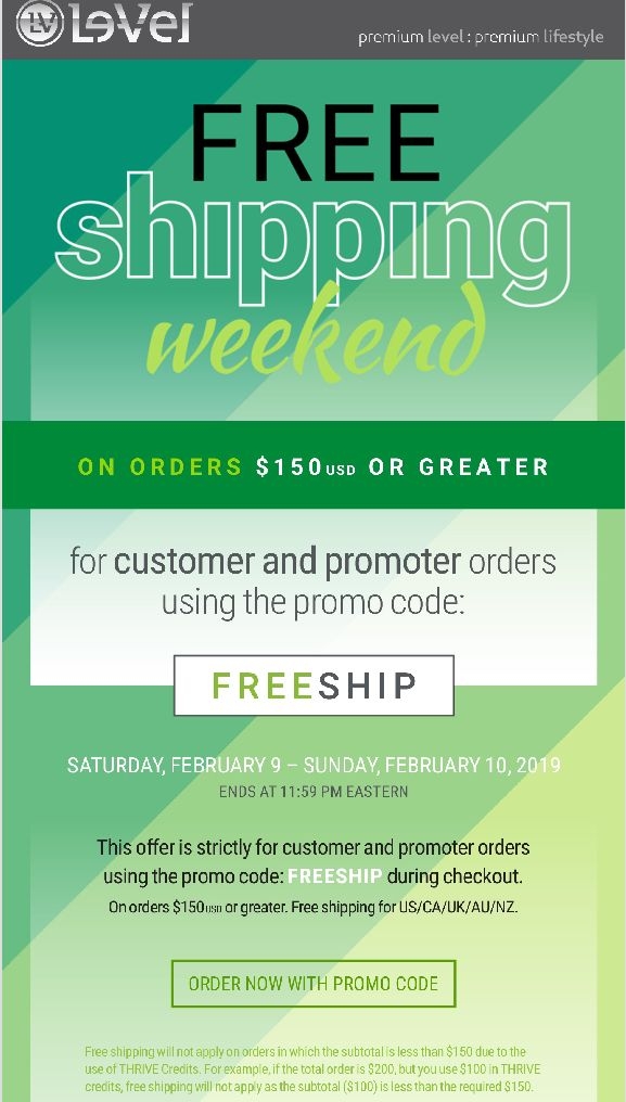 Free Shipping 2/9–2/10 on orders $150 or more | Thrive with me