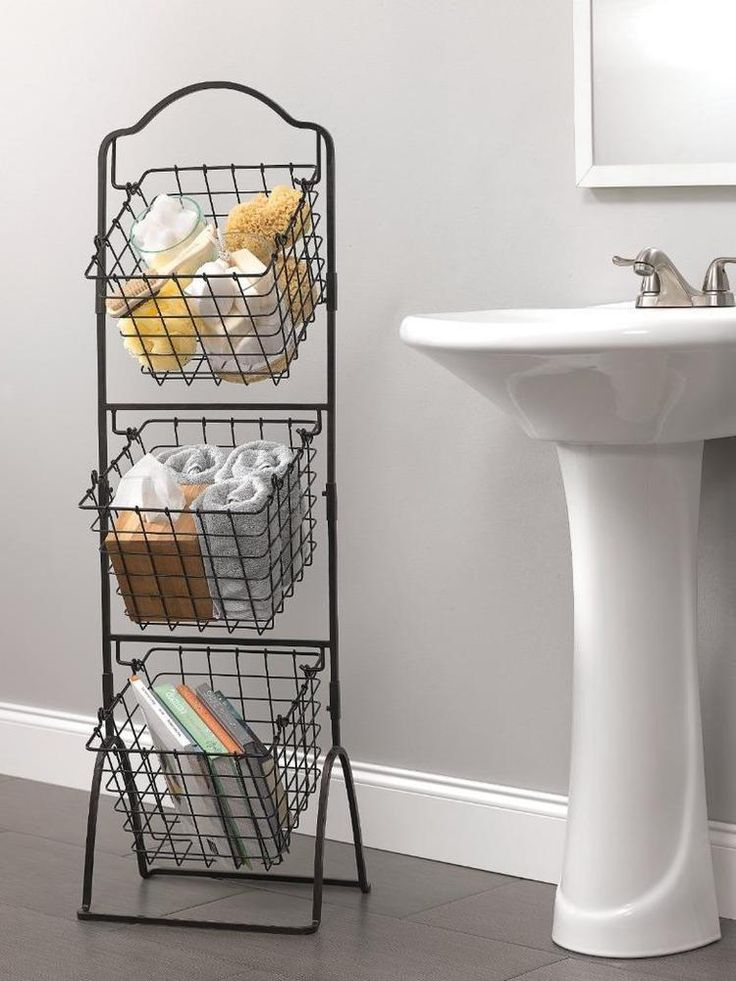17 Best Ideas About Wire Basket Storage On Pinterest