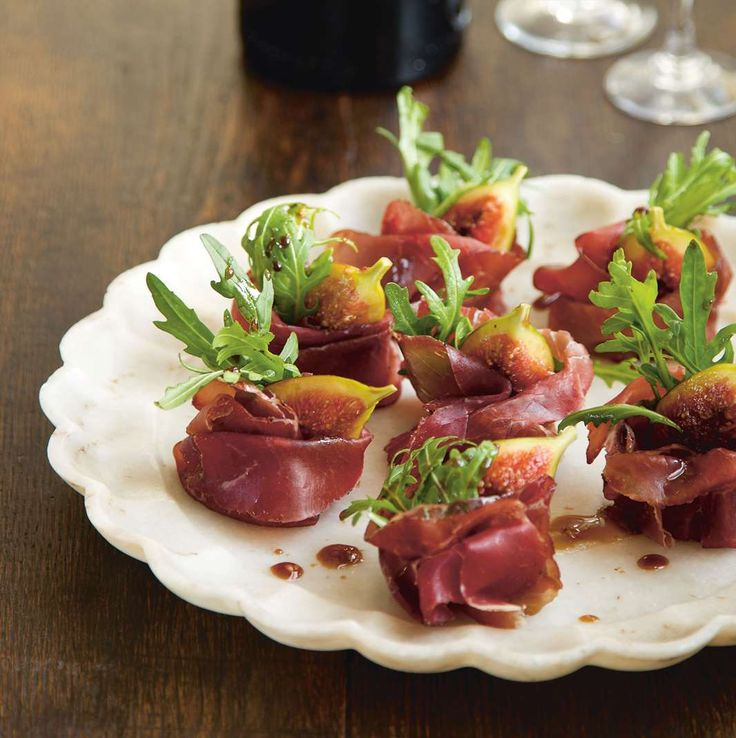 Truffled figs with bresaola and rocket by Nicole Herft from Little Italy | Cooked