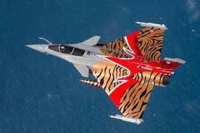 French Armée de l'Air Dassault Rafale in special scheme for Nato Tiger Meet 2014 – photo O.Ravenel – Armée de l'Air.