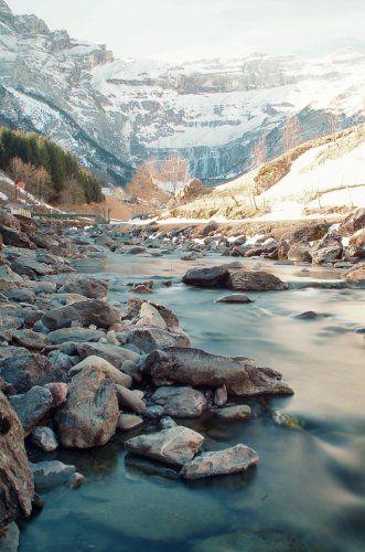 La grande cascade de Gavarnie et leGave, Pyrénées, France