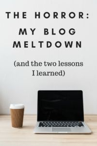 The Horror: My Blog Meltdown and What I Learned #blogging tips #blog disabled #traffic #DreamHost #blog disabled #where did my traffic go #virtual private server