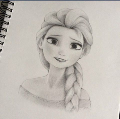 Elsa frozen sketch very good drawing ideas for Good sketches to draw
