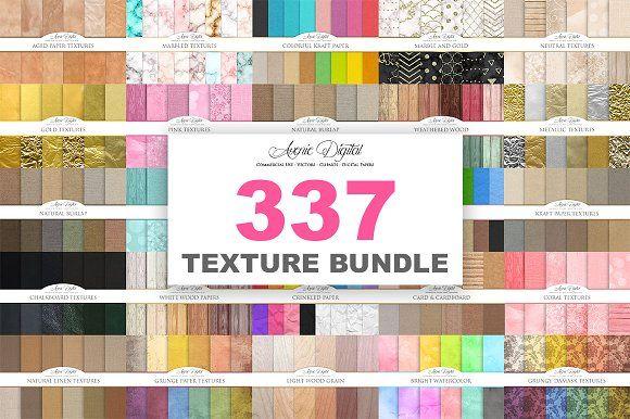 New 337 Texture Bundle by Avenie Digital on @creativemarket