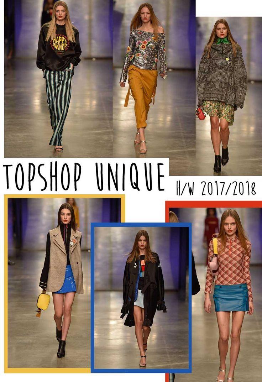 Topshop Unique Herbst/Winter 2017/2018 auf der London Fashion Week  Fashionweek, London, Mode, Kollektion, Modenschau, Topshop, Uniqe,