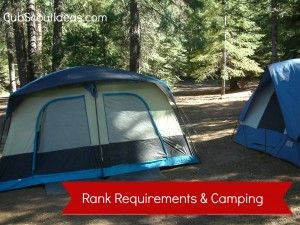 Completing Cub Scout Rank Requirements While Camping - Cub Scout Ideas