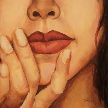 - La bouche rouge