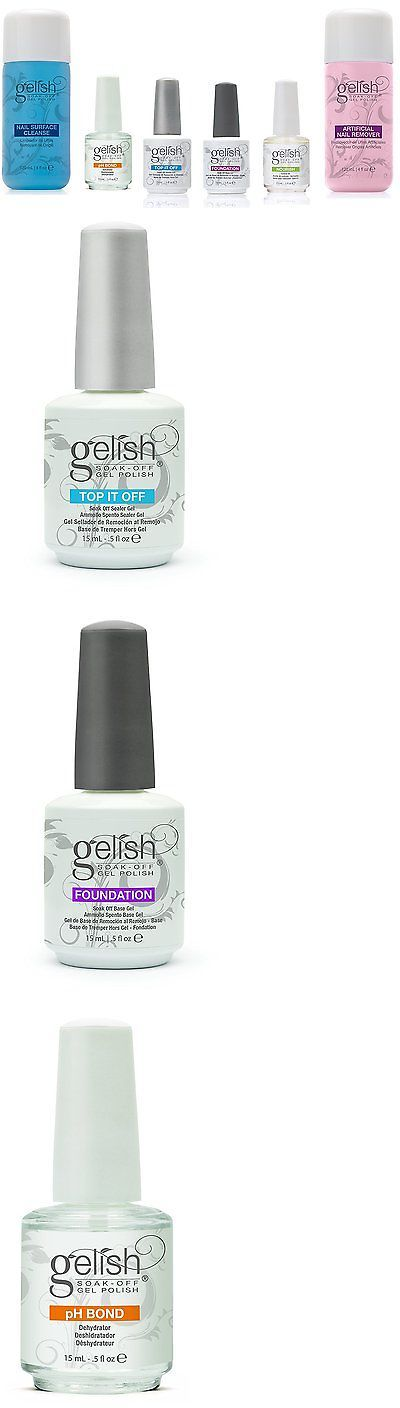 Nail Polish Remover: Gelish Full Size Gel Nail Polish Basix Care Kit (15Ml) + Remover And Cleanser -> BUY IT NOW ONLY: $56.69 on eBay!