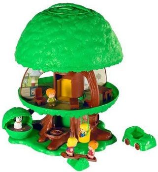 I already pinned this treehouse from my childhood but this shows more of it. (Like the dog house in the bush.). My car was yellow. :)