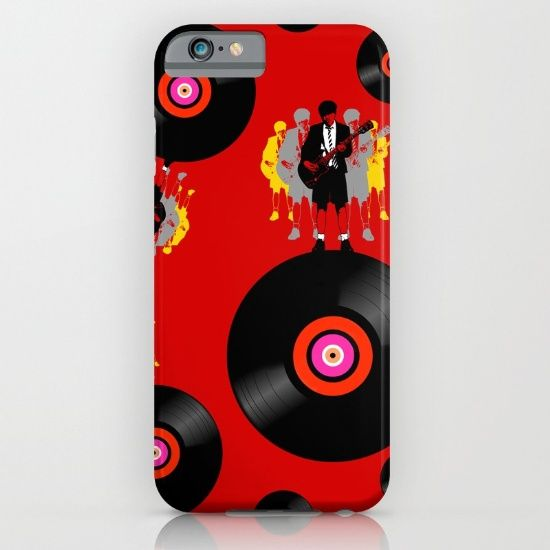 'Angus on Vinyl' phonecase @society6  - Protect your iPhone with a one-piece, impact resistant, flexible plastic hard case featuring an extremely slim profile. Simply snap the case onto your iPhone for solid protection and direct access to all device features. #society6 #iphonecovers #angus #angusyoung #acdcfans #red #vinylfan #vinyladdict #phonecases #shareyoursociety6 #popart #newstyle #streetgear #stepout #rockgear #oldskool #retro #records