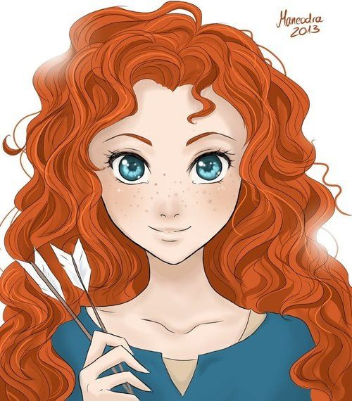 Merida, Brave. Disney fanart