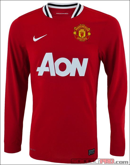 The Nike Manchester United Long Sleeve Home Jersey 2011-12 looks sweet and is an all around classy soccer jersey for Man Utd supporters...$56.99