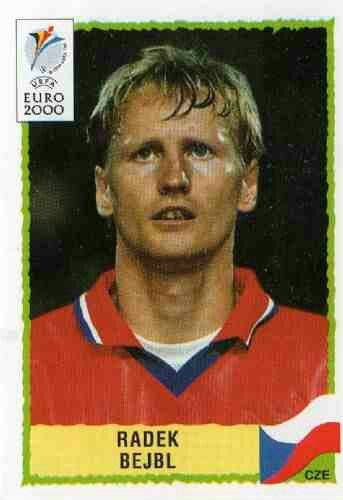 Radek Bejbl of Czech Republic.  2000 European Championship card.