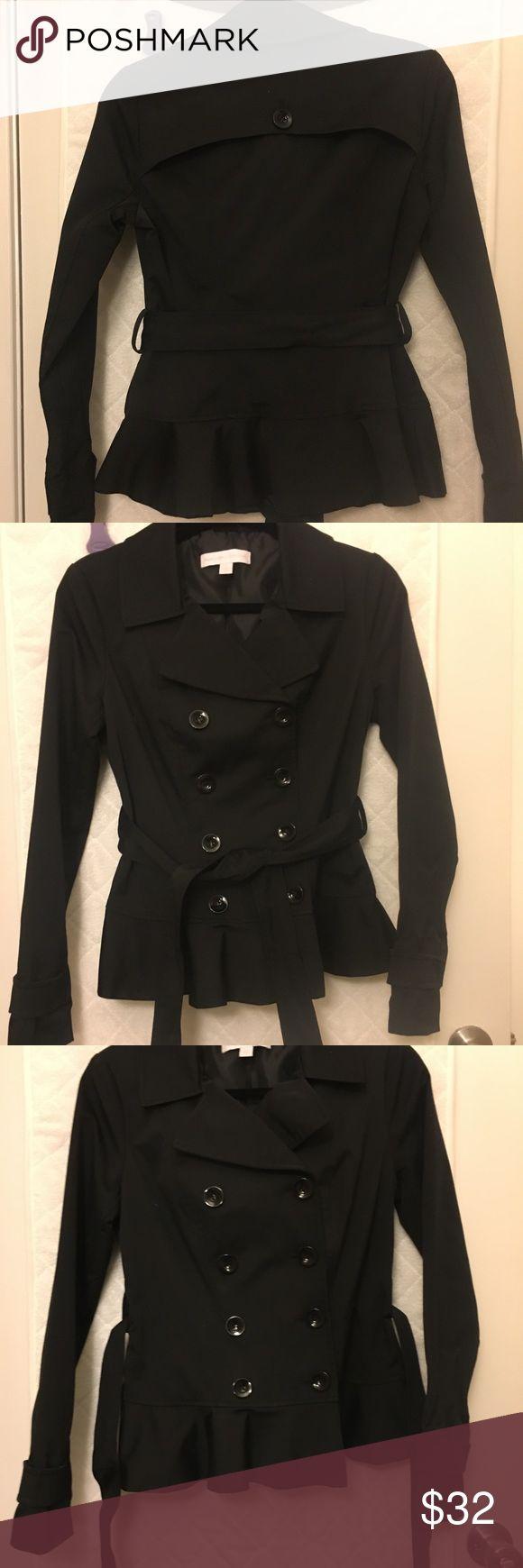 Black pea coat XS black pea coat in excellent condition. Worn twice. New York & Company Jackets & Coats Pea Coats