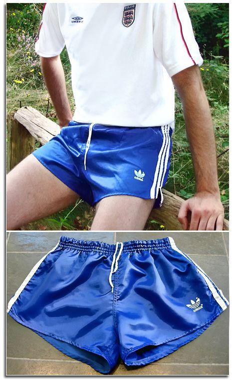 Mens Shiny Silky Satin Vintage Adidas Nylon Sports Shorts