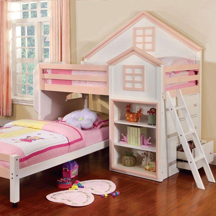 Citadel House Design Dual Twin Size Loft Bed Set - 11 Main
