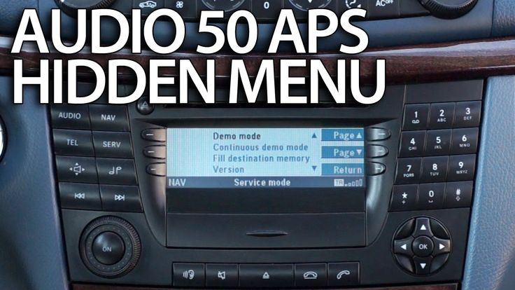 How to enter hidden menu in #Mercedes Audio 50 #APS (engineering mode) #W211 #cars