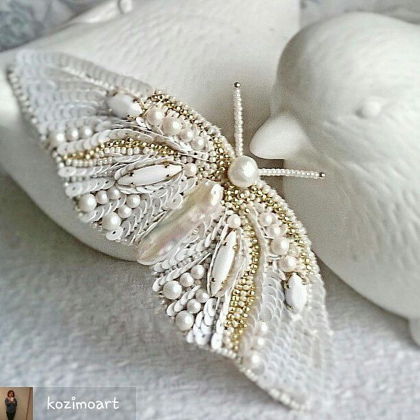 @Regrann from @kozimoart -  Fky #new #brooch by #kozimoembroideries #embroidery…