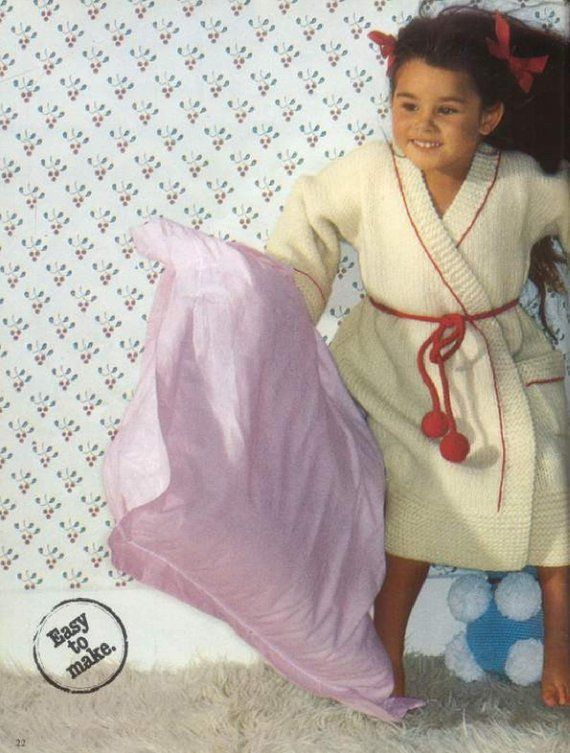 b3c67eb96e63 Instant PDF Digital Download Vintage Row by Row Knitting Pattern to make  Baby Childrens Boys Girls