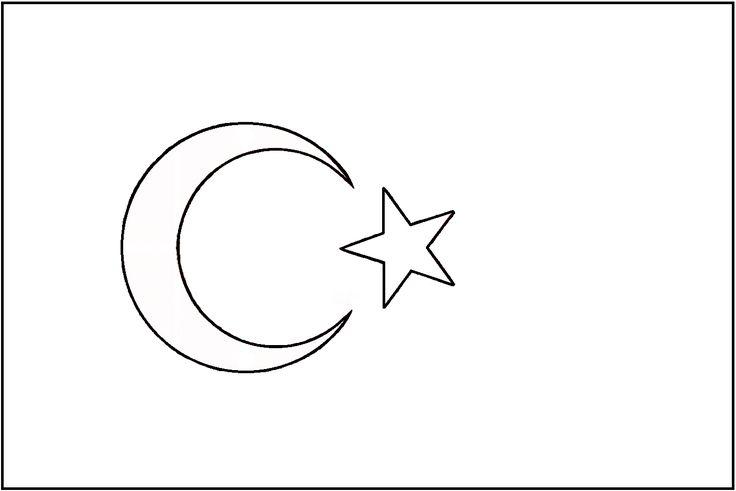 standart türk bayrağı çizimi filografi desenleri
