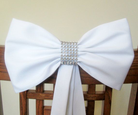 Pew Bows with Rhinestones Set of 4 Pew Bows by shannonkristina, $64.00