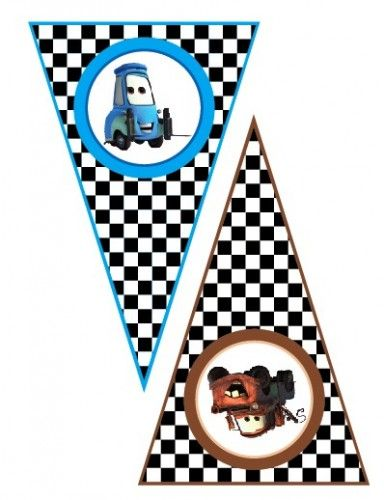 Disney Cars Lightning McQueen Matter- Printable Banner Pennants                                                                                                                                                                                 More