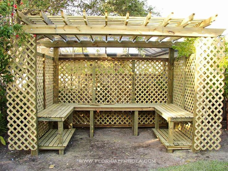 Pergola Wrapped With Lattice As An Orchid House