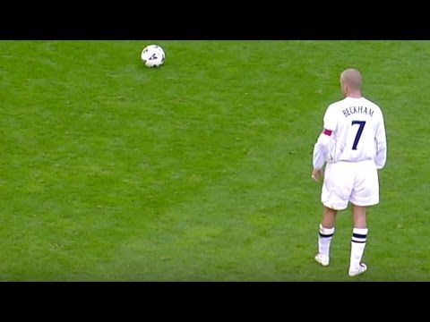 David Beckham's free kick against Greece - YouTube